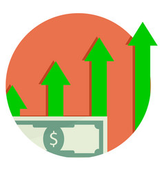 Capitalization is financial growth capital icon vector