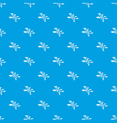 cedar pattern seamless blue vector image