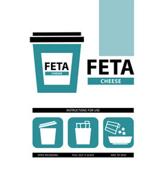 Cheese feta icons vector