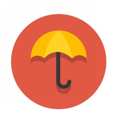 circle flat icon umbrella vector image