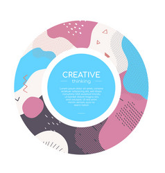 Colorful abstract brochure - modern web vector