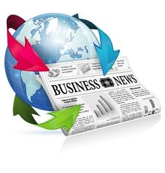 Concept - Internet News vector image