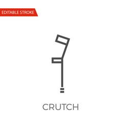 crutch icon vector image