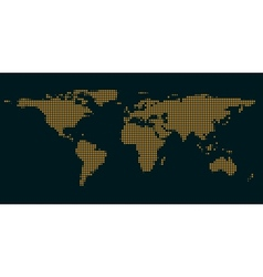 Dark blue maps of the world with light of the vector