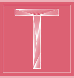 Decorative font stylized letter t vector