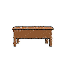 desk wood object to study and learn vector image