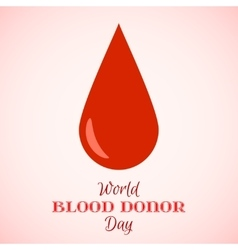 Drop of Red Blood Icon vector image
