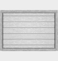 empty frame of wooden white boards vector image
