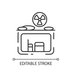 Fallout shelter linear icon vector