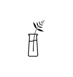fern plant on vase outline icon signs and symbols vector image
