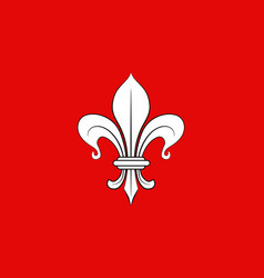 Flag of lille in nord of hauts-de-france is a vector