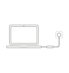 flat design style concept of laptop computer icon vector image