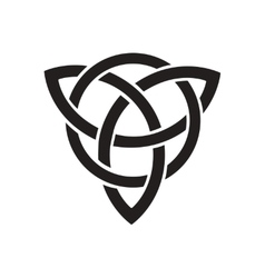 Flat icon in black and white celtic symbol vector