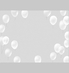 flying white balloons on transparent background vector image