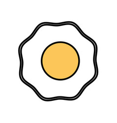 Fried egg breakfast food vector
