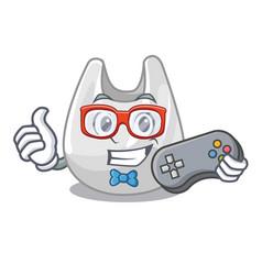 gamer plastic bag mascot cartoon vector image