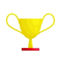 Gold winner cup icon cartoon style vector image
