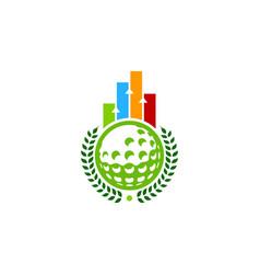 graph golf logo icon design vector image