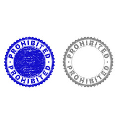 Grunge prohibited textured stamps vector