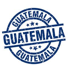 guatemala blue round grunge stamp vector image