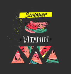 Hand drawm funny summer unusual background vector