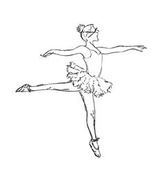 Hand drawn Ballerina dance vector