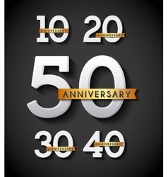 happy anniversary design vector image