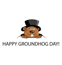 Happy groundhog day vector image