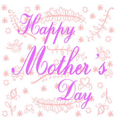 Happy mother day doodle style vector