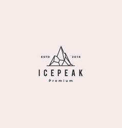 Icepeak ice peak mount mountain stone logo vector