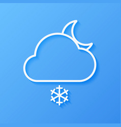 Icon weather moon snow and cloud vector