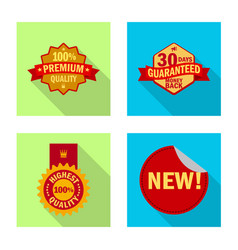 Isolated object emblem and badge logo vector