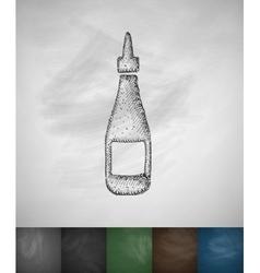 ketchup icon vector image