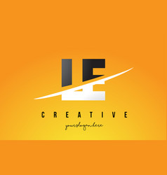 Le l e letter modern logo design with yellow vector