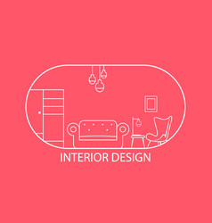 logo furniture lines style symbol and icon of vector image