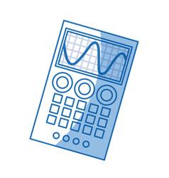 Measuring device laboratory reseach shadow vector