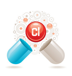 Mineral vitamin hlorine supplement for health vector