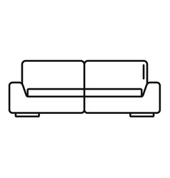 Modern sofa icon outline style vector