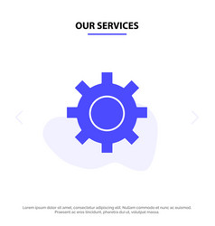 our services setting gear interface user solid vector image
