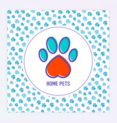 pet paws concept for banner web page vector image