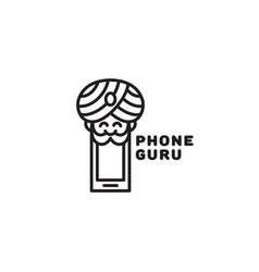 phone guru logo vector image