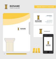 Piller business logo file cover visiting card and vector