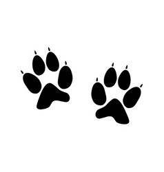 Print dog paw vector