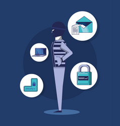Privacy policy design vector