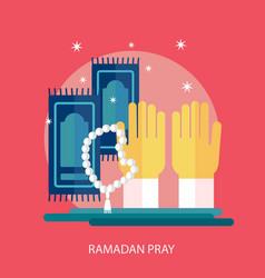 Ramadhan pray conceptual design vector