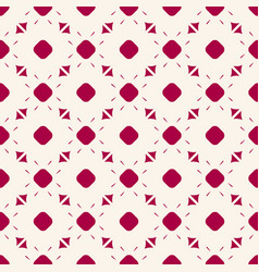 red and white geometric seamless pattern vector image