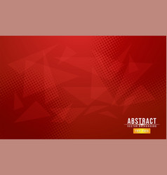 Red minimalist gradient with abstract geometry vector