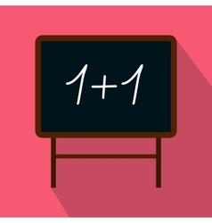 School blackboard icon flat style vector