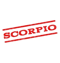 Scorpio Watermark Stamp vector