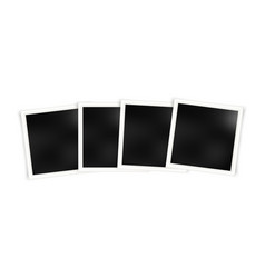 set of photo frame templates vector image